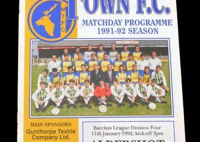 Aldershot v Mansfield 11.01.1992