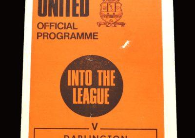 Cambridge v Darlington 02.01.1971