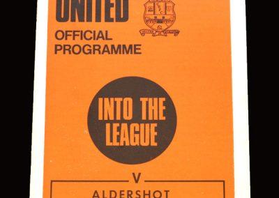 Cambridge v Aldershot 09.01.1971