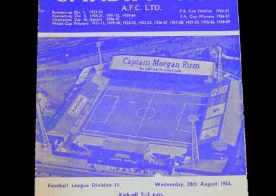Man City v Cardiff 28.08.1963