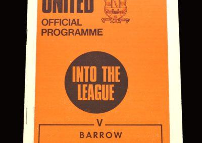 Cambridge v Barrow 30.01.1971