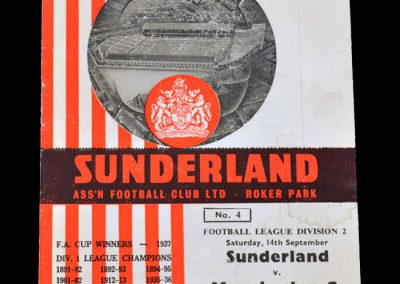 Man City v Sunderland 14.09.1963