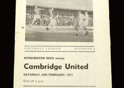 Cambridge v Workington 20.02.1971