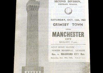 Man City v Grimsby 12.10.1963