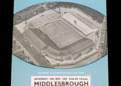 Man City v Middlesbrough 16.11.1963 (postponed)
