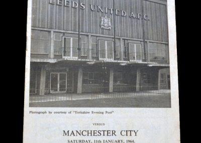 Man City v Leeds 11.01.1964