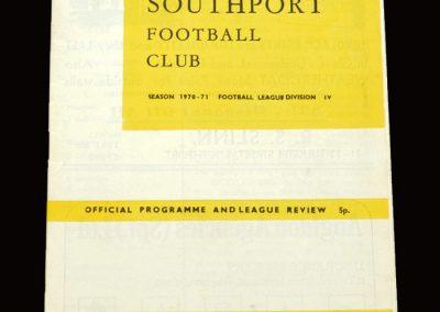 Cambridge v Southport 09.04.1971