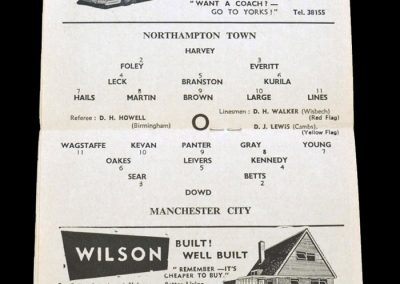 Man City v Northampton 01.02.1964