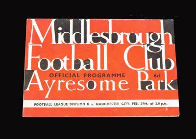 Man City v Middlesbrough 29.02.1964