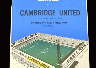 Cambridge v Peterborough 17.04.1971