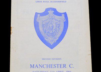 Man City v Huddersfield 11.04.1964