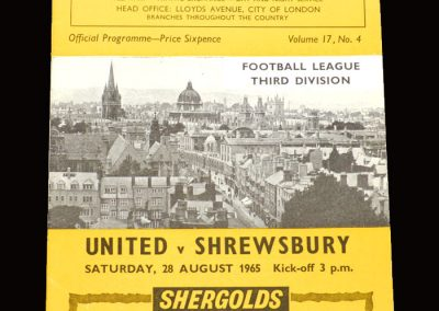 Shrewsbury v Oxford United 28.08.1965