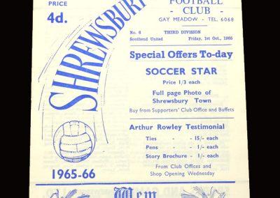 Shrewsbury v Southend 01.10.1965