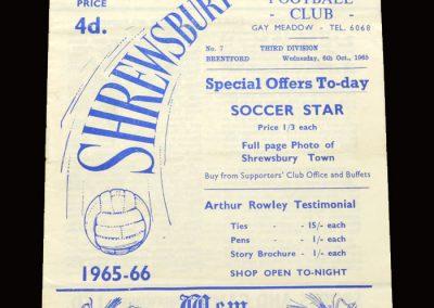 Shrewsbury v Brentford 06.10.1965