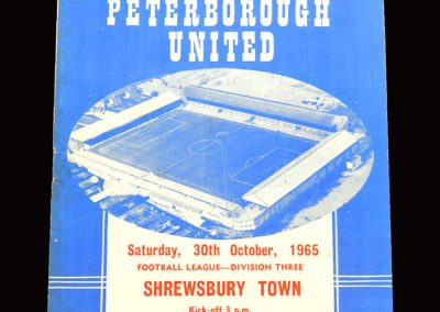 Shrewsbury v Peterbrough 30.10.1965