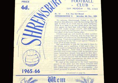 Shrewsbury v Peterborough 04.12.1965