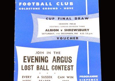 Shrewsbury v Brighton 11.12.1965