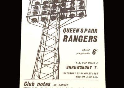 Shrewsbury v QPR 22.01.1966 - FA Cup 3rd Round