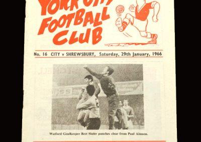 Shrewsbury v York 29.01.1966