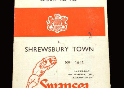 Shrewsbury v Swansea 19.02.1966