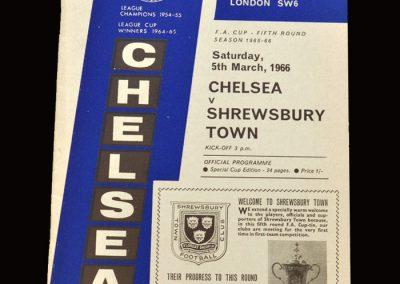 Shrewsbury v Chelsea 05.03.1966 - FA Cup 5th Round