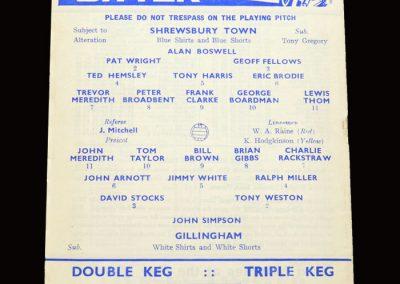 Shrewsbury v Gillingham 30.03.1966