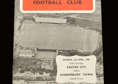 Shrewsbury v Exeter 02.04.1966
