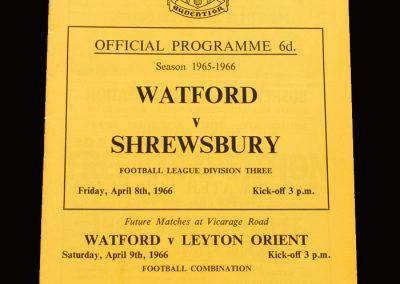 Shrewsbury v Watford 08.04.1966