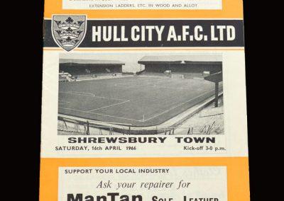 Shrewsbury v Hull 16.04.1966