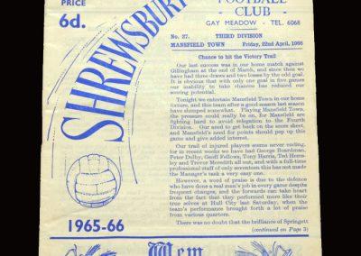 Shrewsbury v Mansfield 22.04.1966