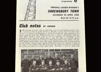 Shrewsbury v QPR 30.04.1966