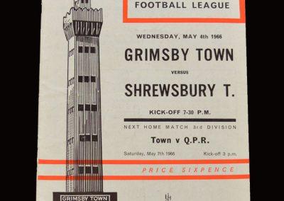 Shrewsbury v Grimsby 04.05.1966