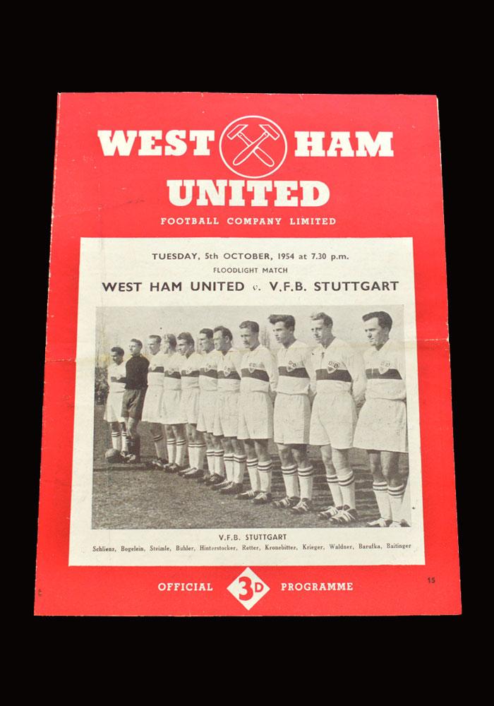West Ham v VFB Stuttgart 05.10.1954 (friendly)