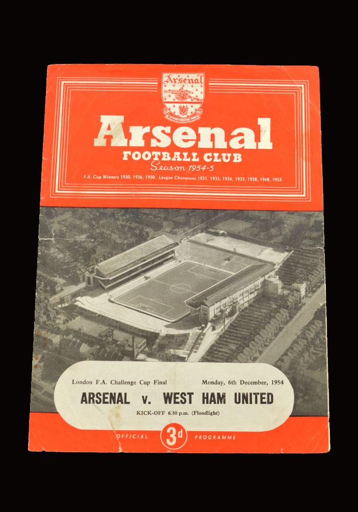 West Ham v Arsenal 06.12.1954 - London Challenge Cup Final
