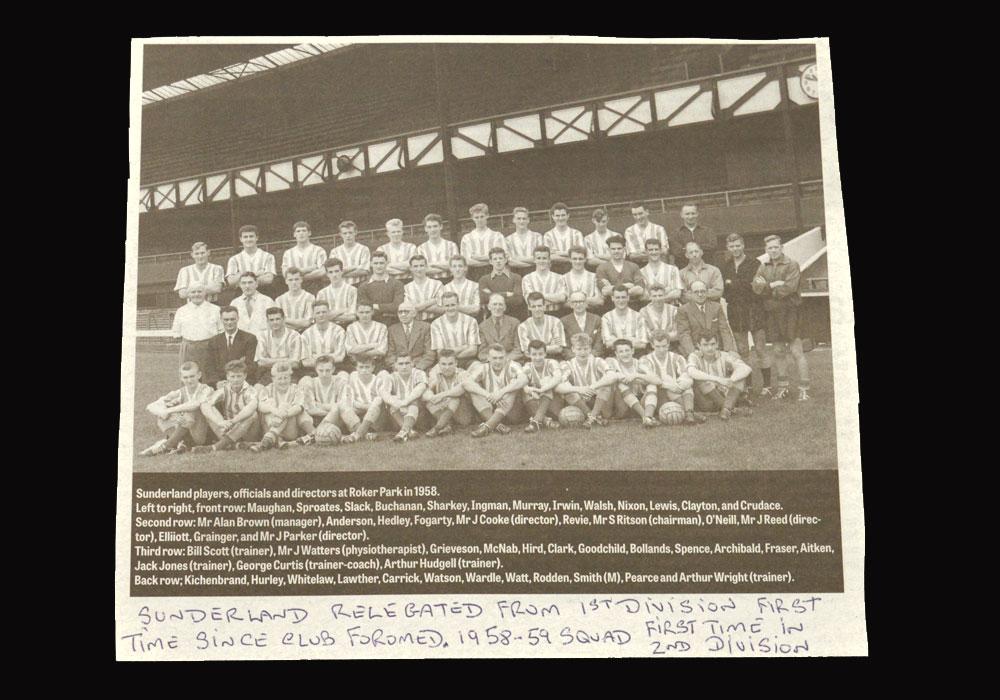 Sunderland Team Photo 1958