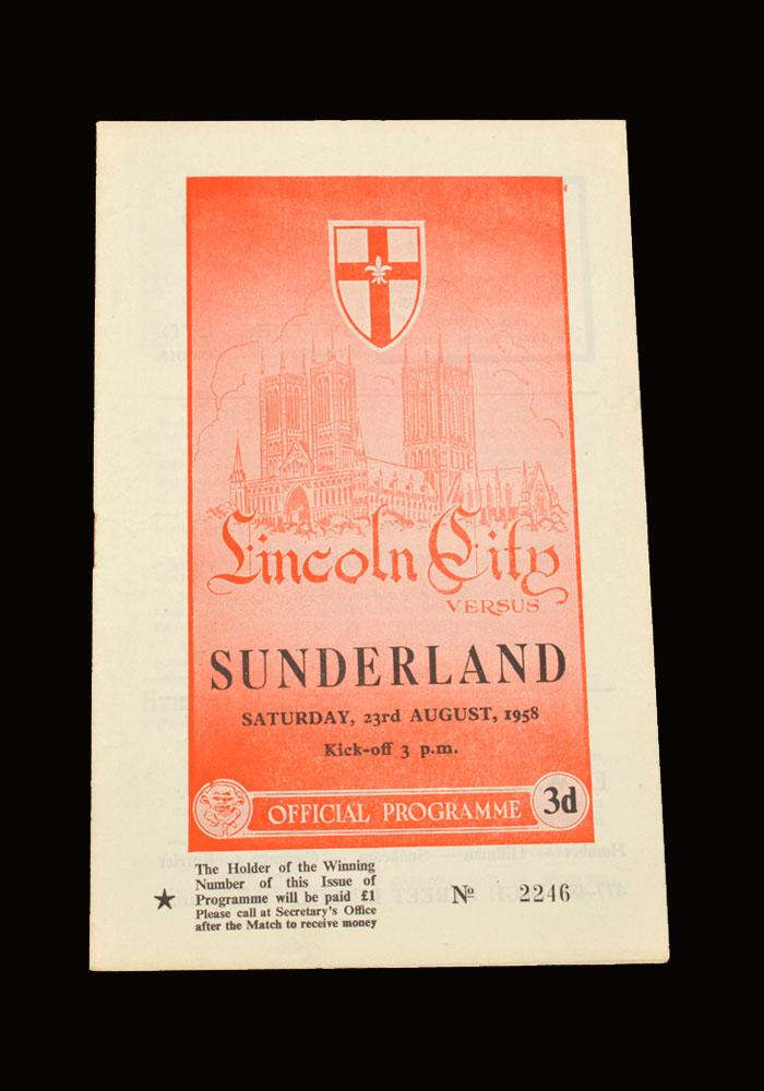 Sunderland v Lincoln 23.08.1958