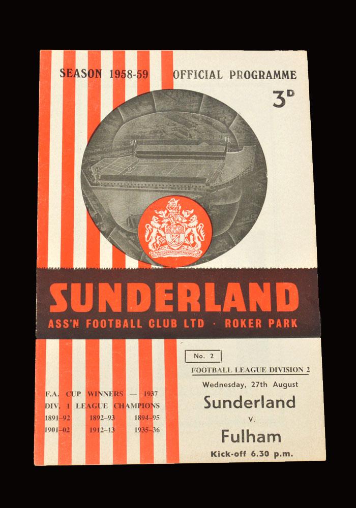 Sunderland v Fulham 27.08.1958