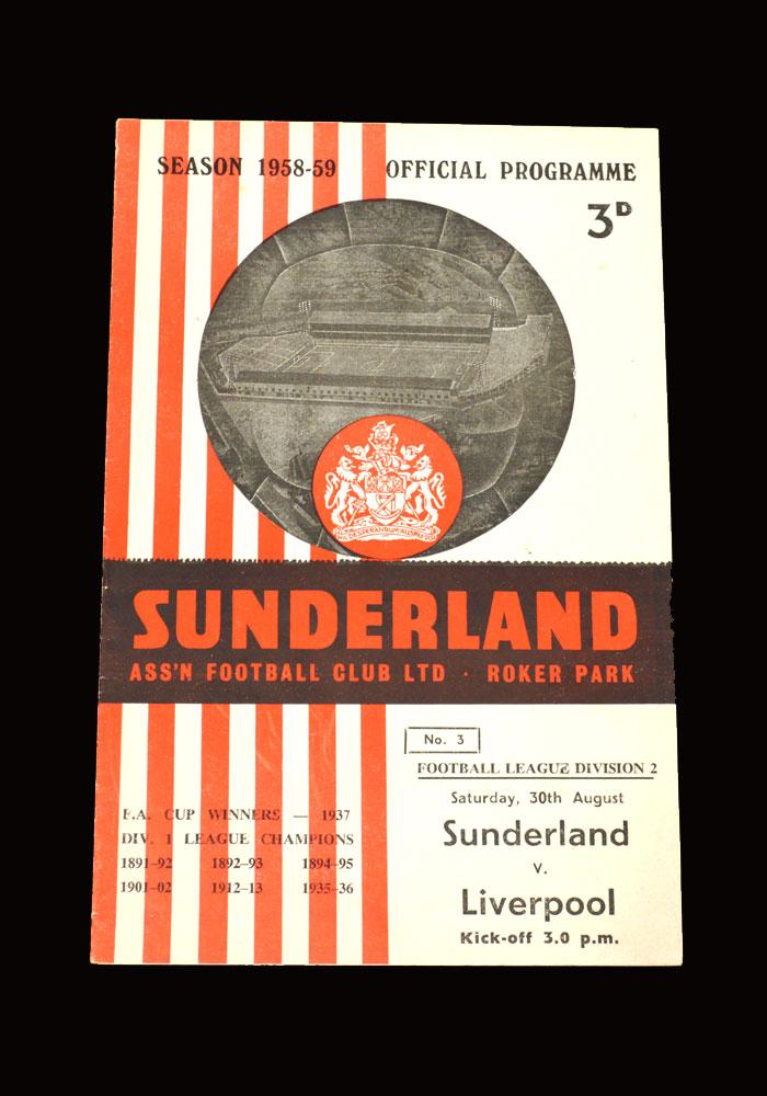 Sunderland v Liverpool 30.08.1958