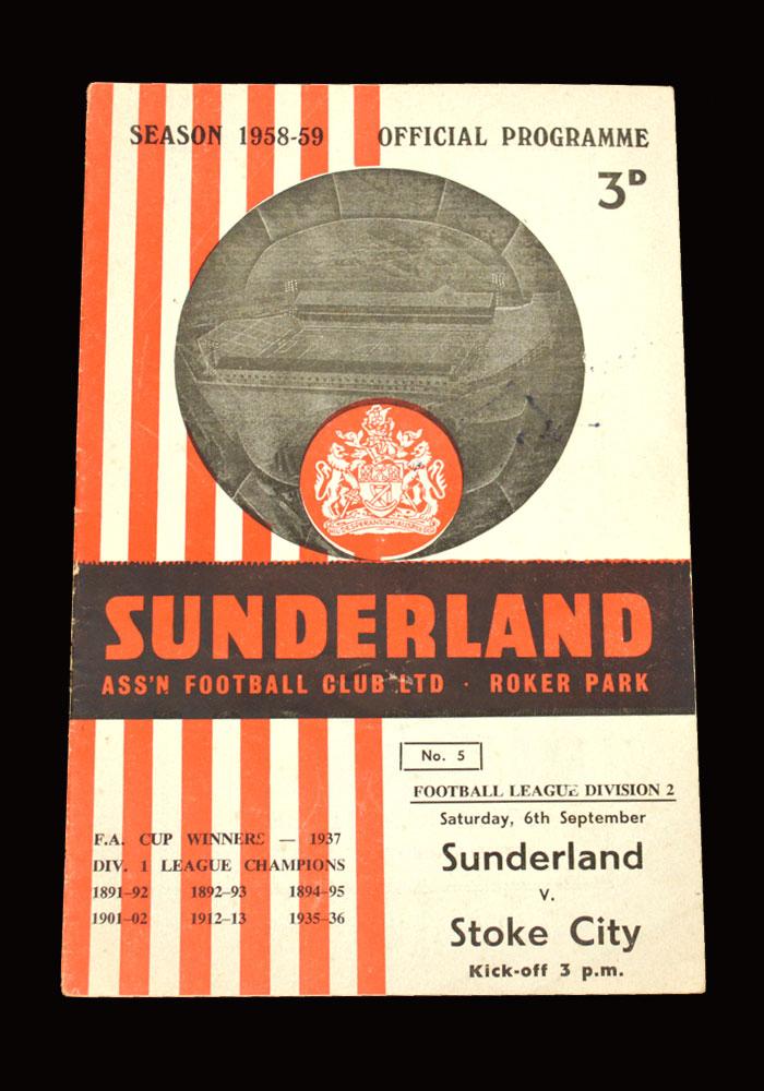 Sunderland v Stoke 06.09.1958
