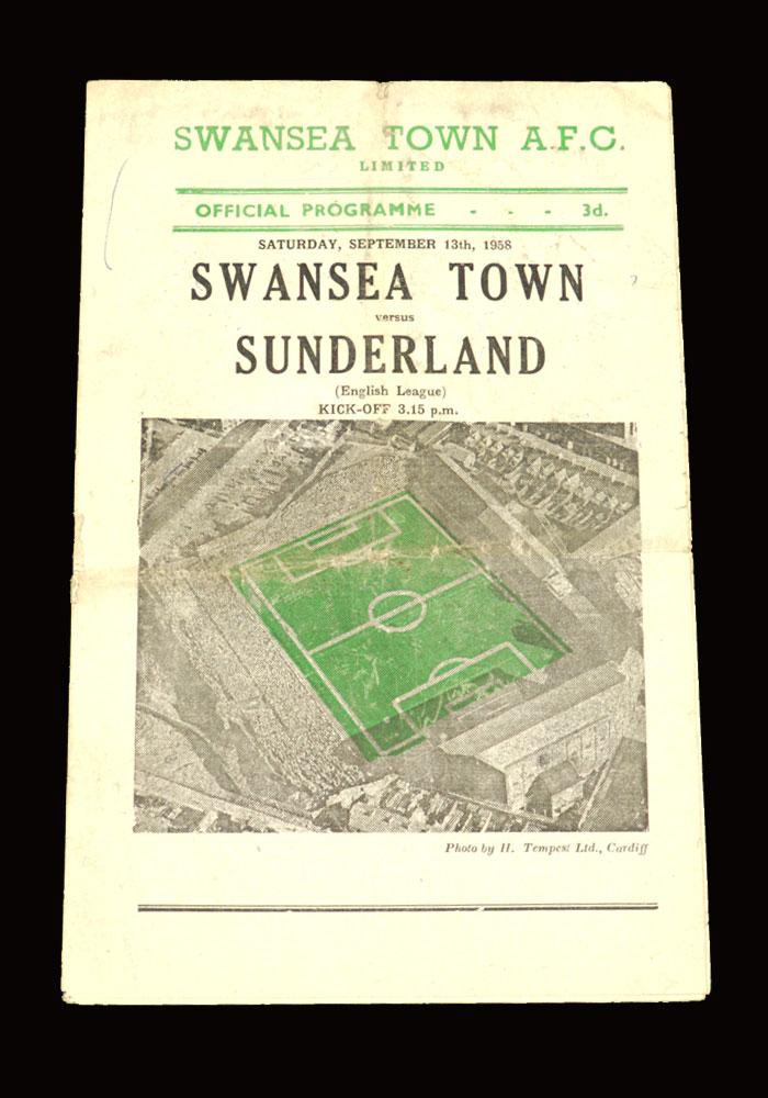 Sunderland v Swansea 13.09.1958