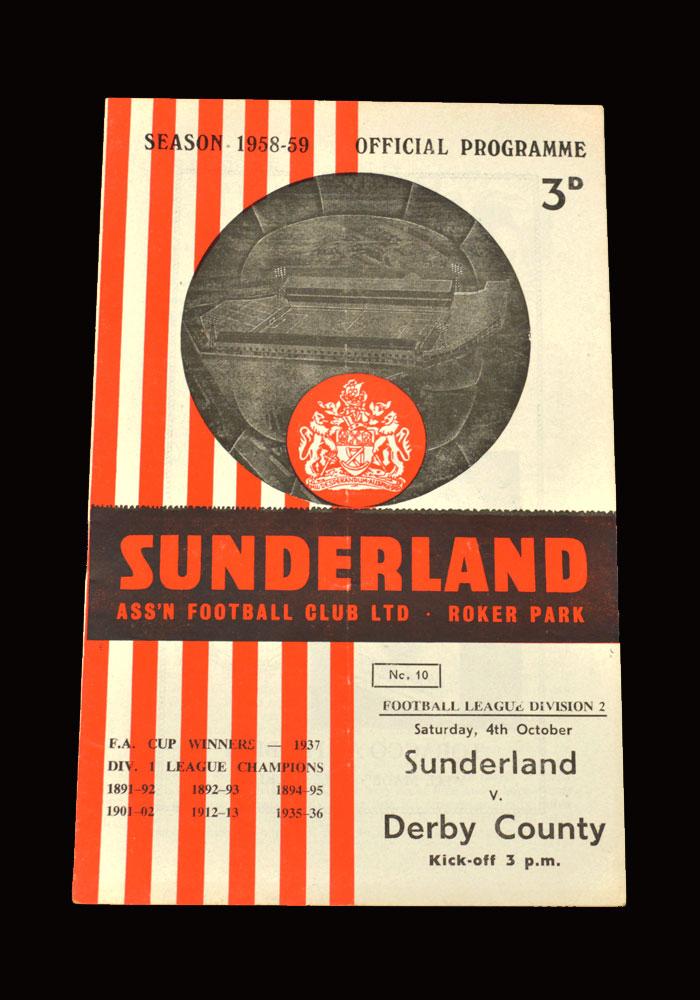 Sunderland v Derby 04.10.1958
