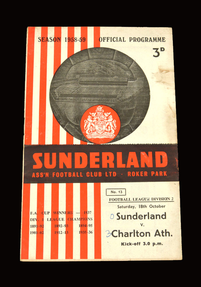 Sunderland v Charlton 18.10.1958