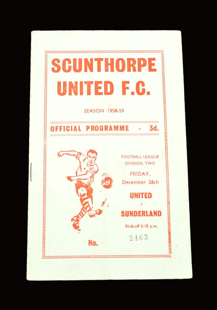Sunderland v Scunthorpe 26.12.1958