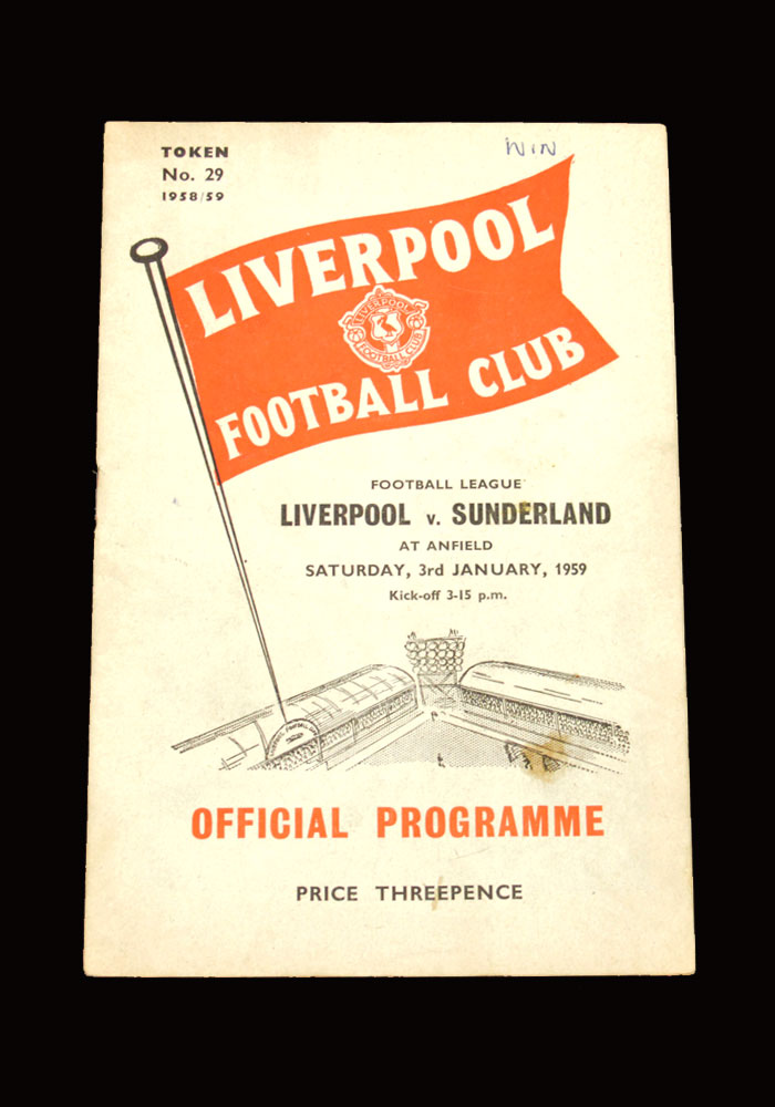 Sunderland v Liverpool 03.01.1959