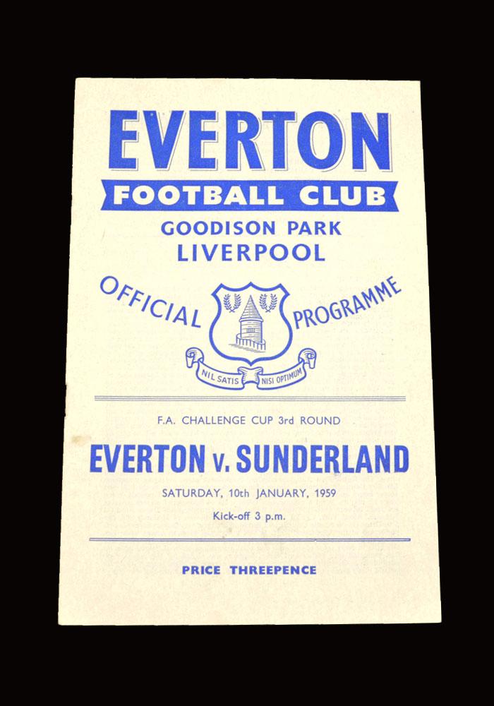 Sunderland v Everton 10.01.1959 - FA Cup 3rd Round