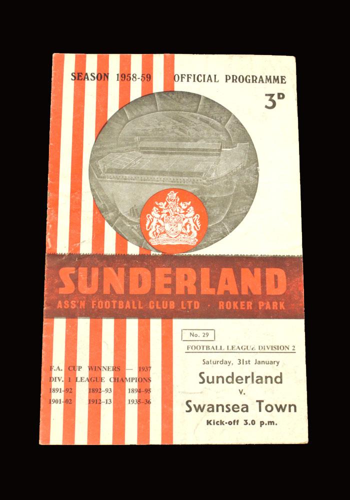 Sunderland v Swansea 31.01.1959