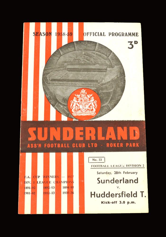 Sunderland v Huddersfield 28.02.1959