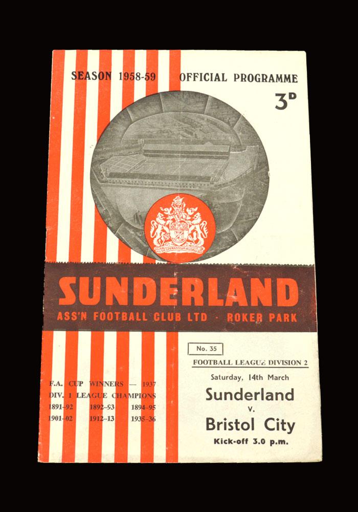 Sunderland v Bristol City 14.03.1959