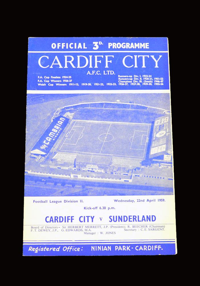 Sunderland v Cardiff 22.04.1959