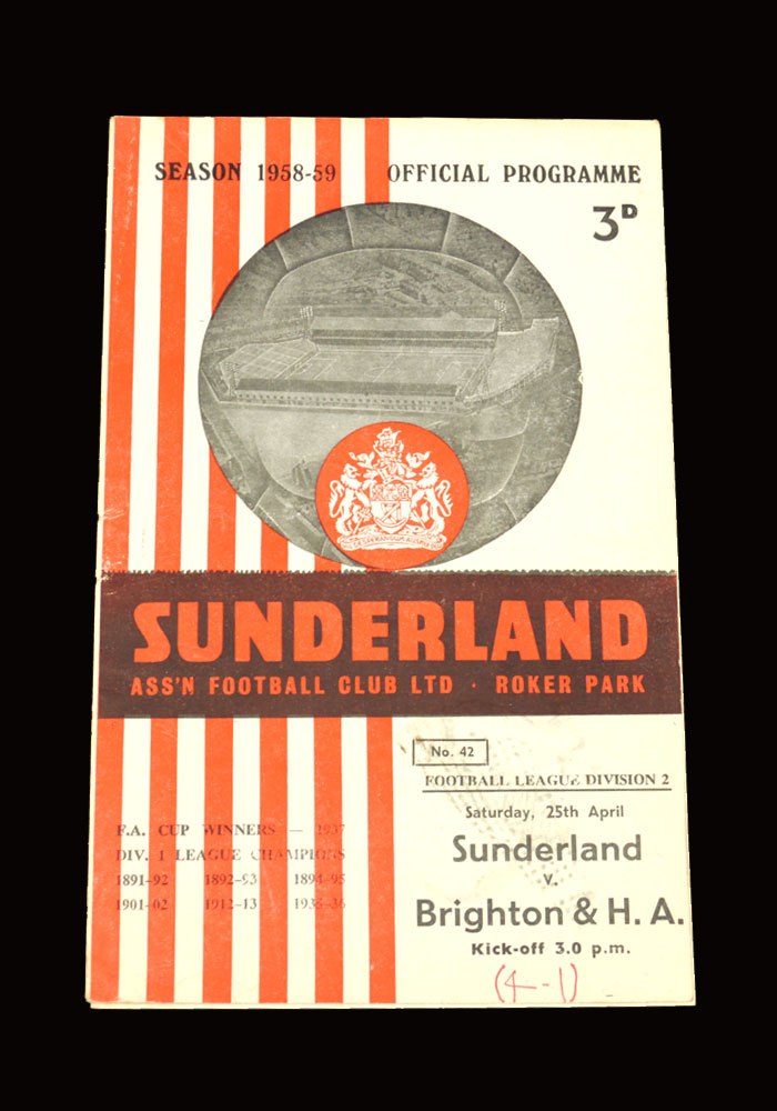 Sunderland v Brighton 25.04.1959